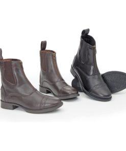 Bridleway Zip Front Paddock Boot Child Black 29