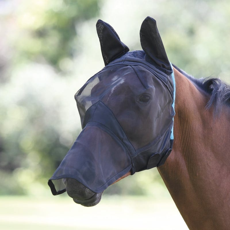 Shires Fine Mesh Fly Mask with Ears & Nose, Cob