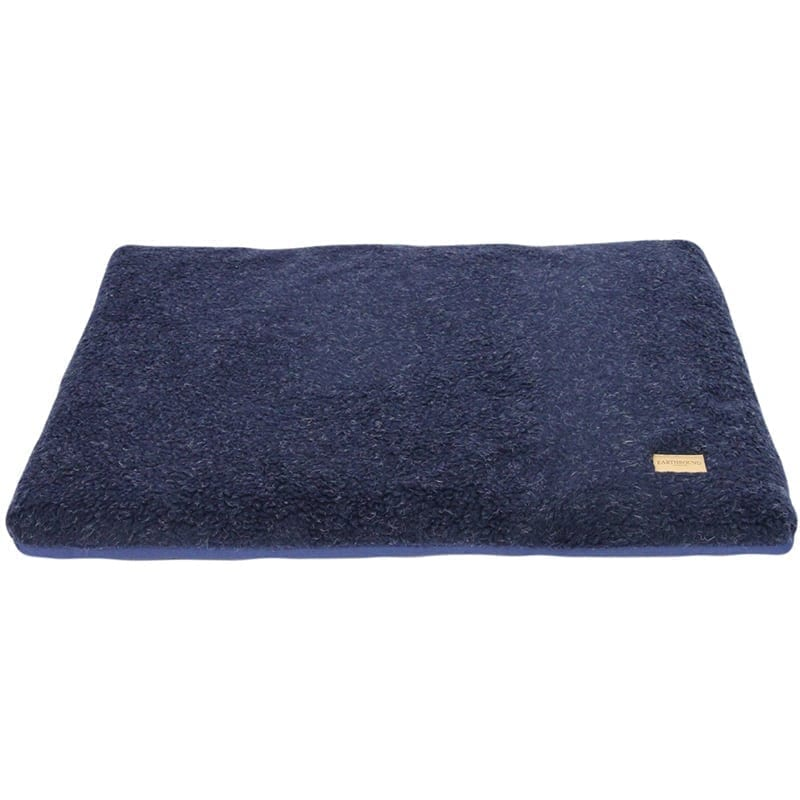 Earthbound Removable Waterproof Cover & Sherpa Cage Mat, Navy - Size Large
