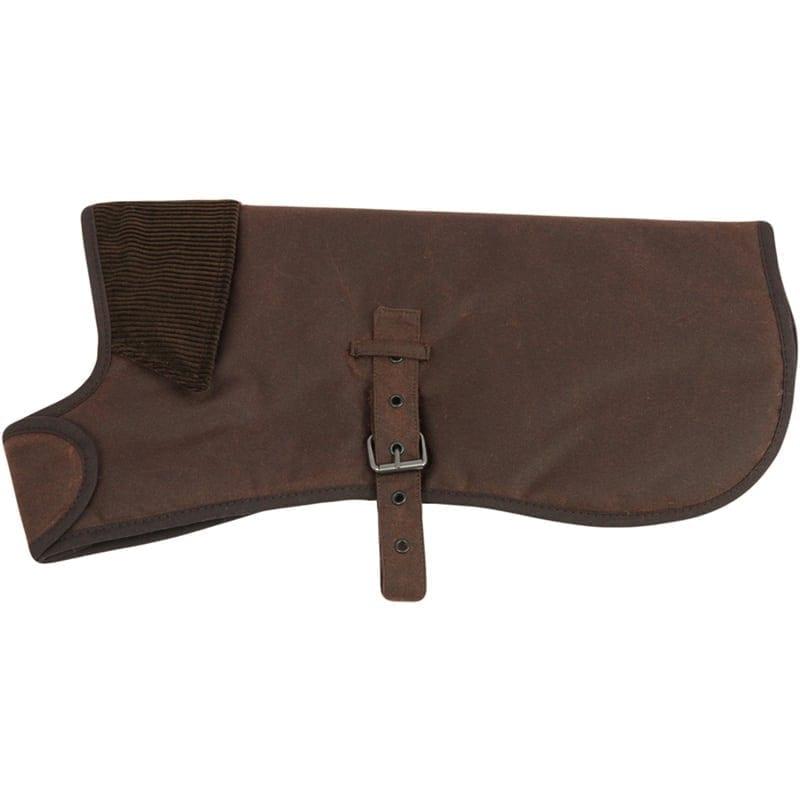 """Earthbound Premium Wax Cotton Dog Coat, Brown 10"""""""