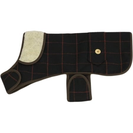 Earthbound Tweed Sherpa Dog Coat, Black 10""