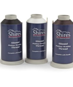 Shires Waxed Plaiting Thread, Brown