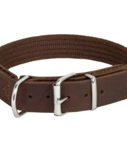 Earthbound Cotton Collar, Brown Size Large