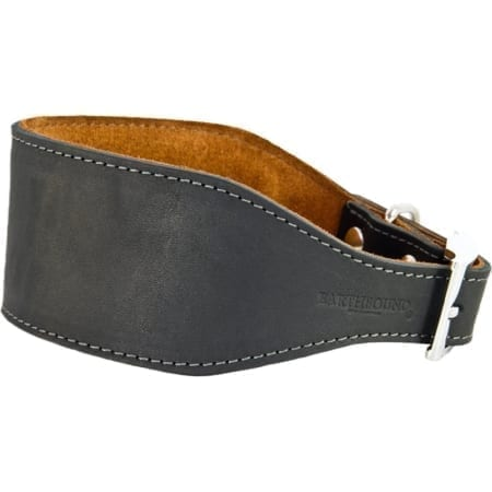 Earthbound Leather Whippet Collar, Black - Size Large
