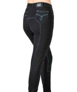 Bridleway Banbury Jodhpurs Black/Bright Blue