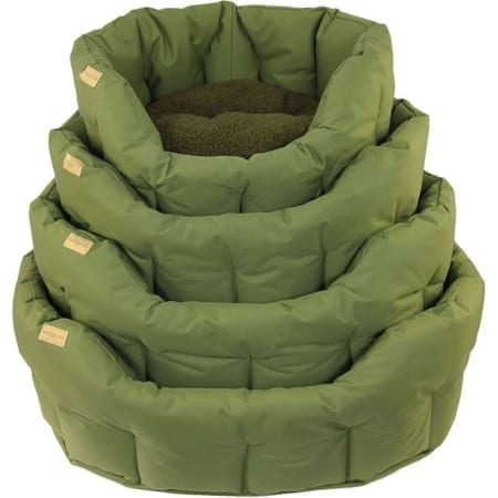 Earthbound Classic Waterproof Dog Bed, Green Size Large