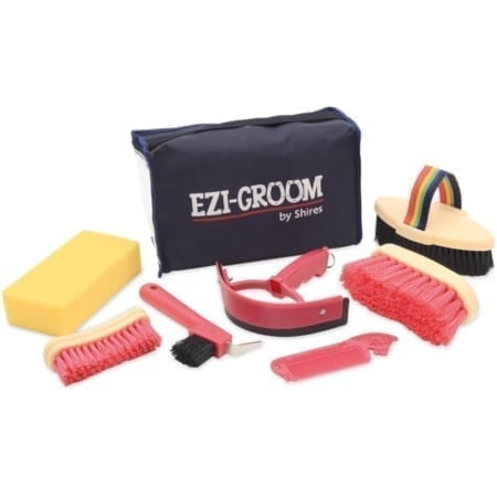 Shires Childs 7 Piece Ezi-Grooming Kit, Pink