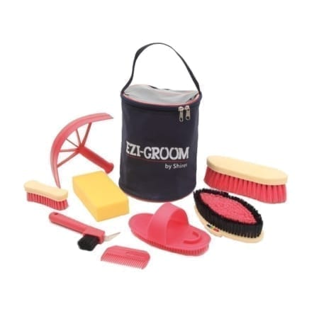 Shires Adults 8 Piece Ezi-Grooming Kit, Pink