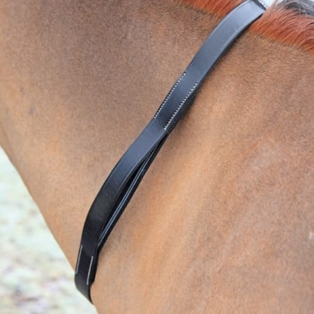 Shires Tapestry Neck Strap, Black Pony/Cob