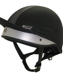 Charles Owen 4 Star Jockey Helmet - Silver