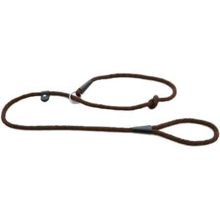 Earthbound Rope Slip Lead, Brown - Size Medium