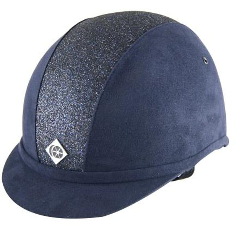 Charles Owen YR8 – Navy with Navy Sparkly Centre