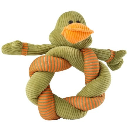 Twisty Duck Stripe  Cord Dog Toy