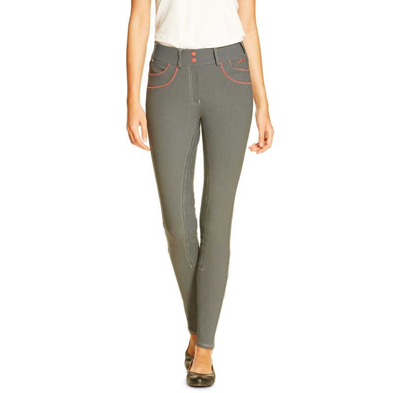 Ariat Olympia Acclaim Full Seat Ladies Breech, Grey Flame