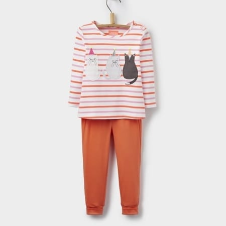 Joules Baby Girl Poppy Applique Top & Trouser Set, Multi Cat