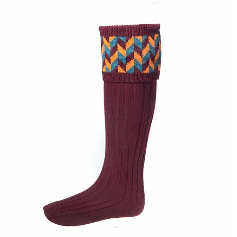 Cheviot Harlequin Mens Shooting Socks