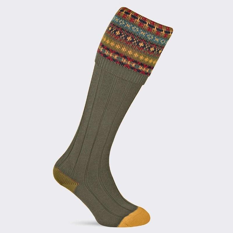 Pennine Fairisle Mens Shooting Socks
