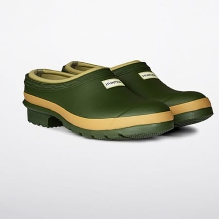 Hunter Gardener Clog, Vintage Green