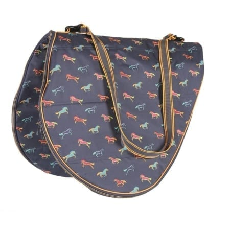 Shires Saddle Carrying Bag, Horse Print