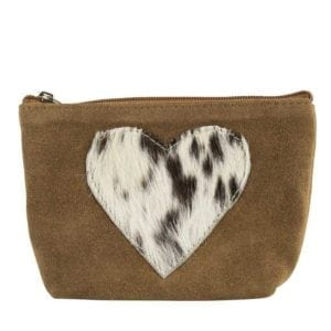 Mars & More Make-up Cow Bag - Heart Shape design make up bag