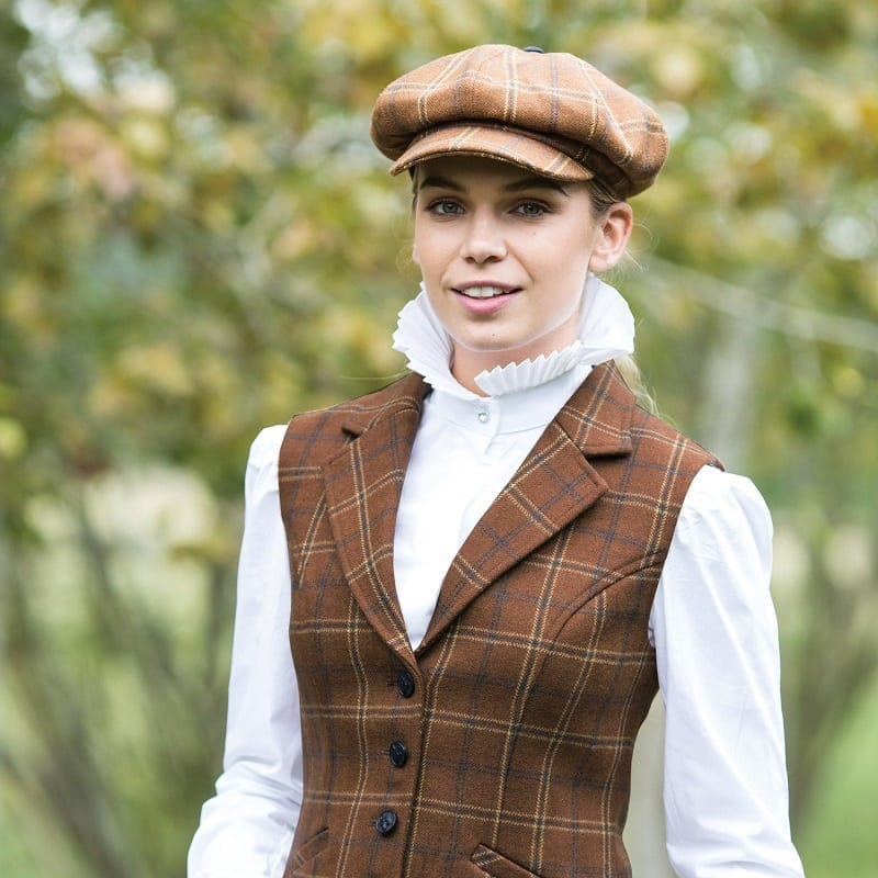 Equetech Marlow Tweed Laped Waistcoat Wadswick Country