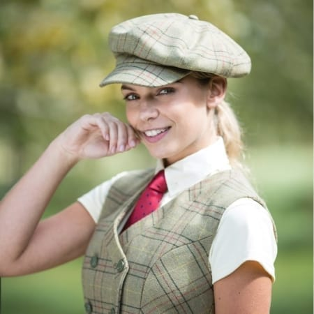 Equetech Hambleden Tweed Baker Boy Cap, One Size