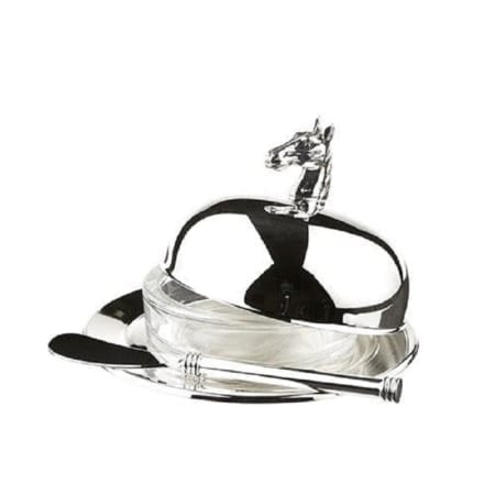 Horse Head Butter Dish With Spreader