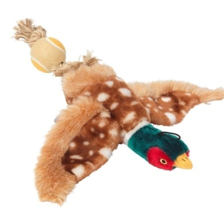 House Of Paws Pheasant With Rope & Ball Tail