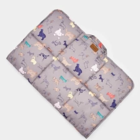 Joules Travelnap Printed Travel Pet Bed