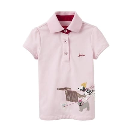 Joules Young Girls Moxie Applique Polo Shirt