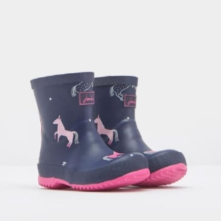 Joules Baby Girls Printed Wellies