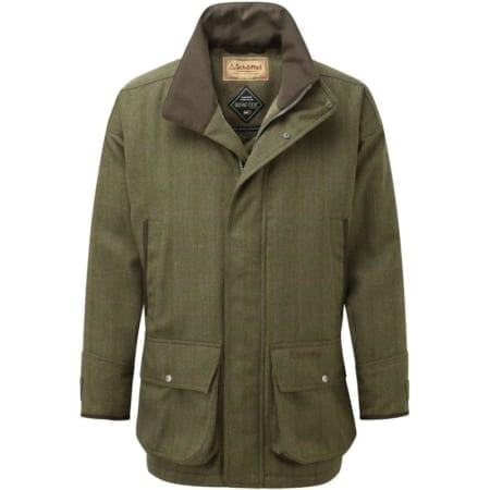 Schoffel Ptarmigan Tweed Mens Coat - Sandringham Tweed