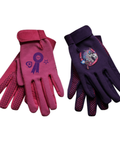 Equetech Junior Poneez Rosette Gloves