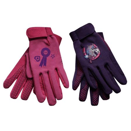 Equetech Junior Poneez Rosette Gloves