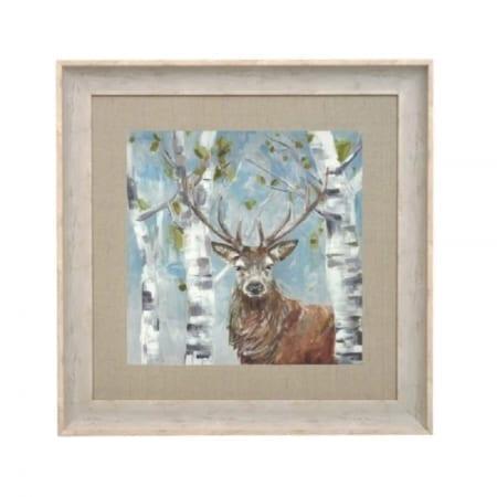Woodland Stag Framed Art