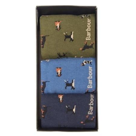 Barbour Sock Motif Gift Box Set
