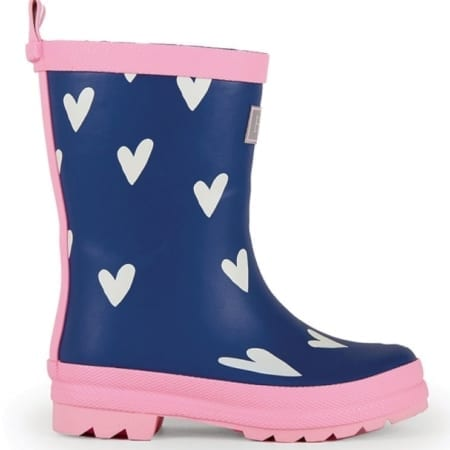 Click to buy children's wellies Hatley Rubber Boots, Sprinkled Hearts