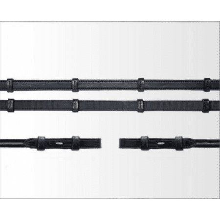 Schockemohle Leather Half Rubber Continental Reins