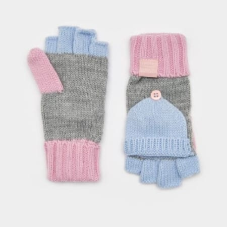 Joules Junior Grey Marl Ailsa Mittens