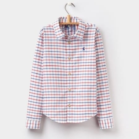 Joules Atley Checked Boys Oxford Shirt