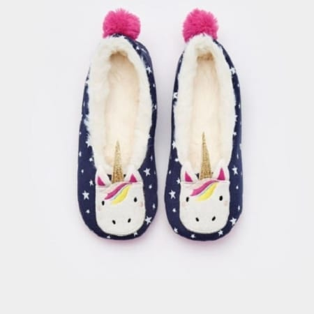 Joules Junior Dreama Fleece Lined Printed Slippers