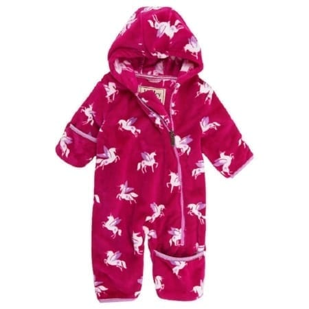 Hatley Fuzzy Winged Unicorns Fleece Mini Bundlers