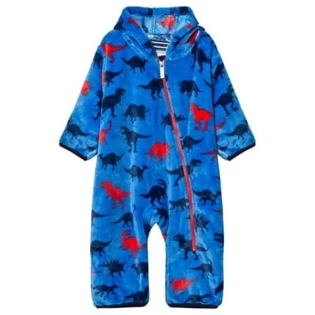 Hatley Fuzzy Dino Shapes Fleece Mini Bundlers