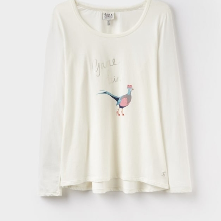 Joules Aubree Long Sleeve Graphic Top