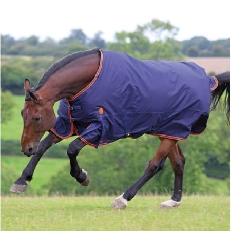 Shires Highlander Original 200g Navy/Orange Turnout Rug