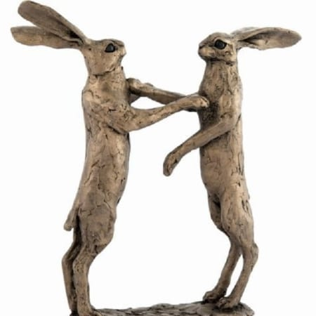 Frith Bronze Howard & Hilda Boxing Hares