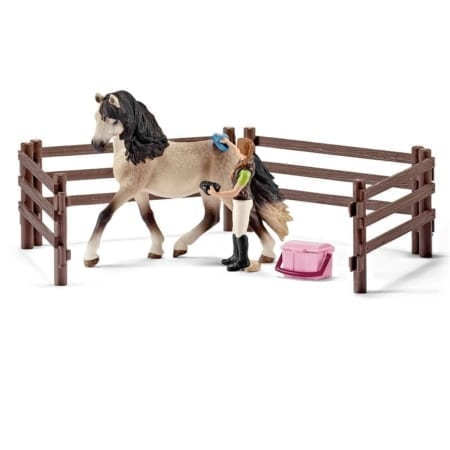 Schleich Horse Club Horse Care Set, Andalusians