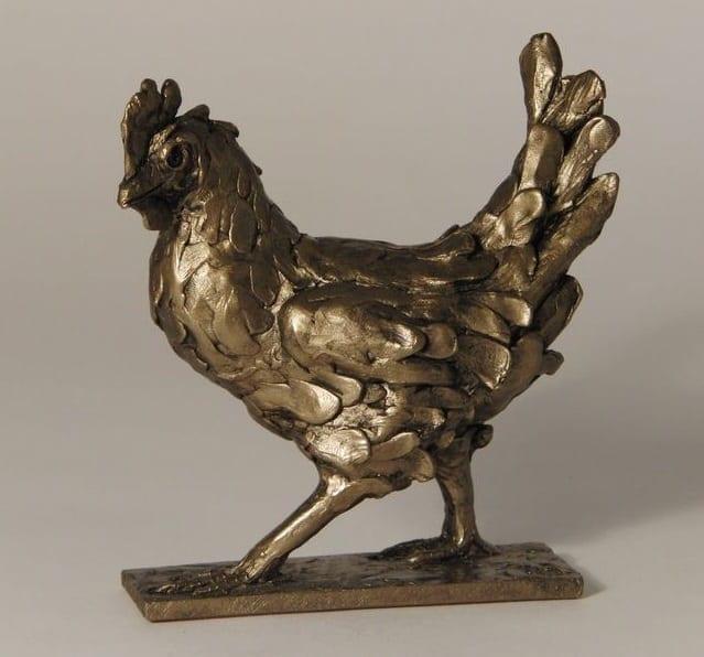 Frith Bronze Clara Walking Hen (TM013)
