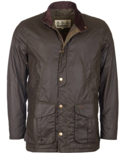Barbour Hereford Olive Waxed Jacket