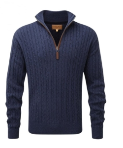 Schoffel 1/4 Zip Cable Jumper